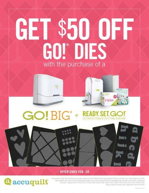 $50 Off Go! Dies