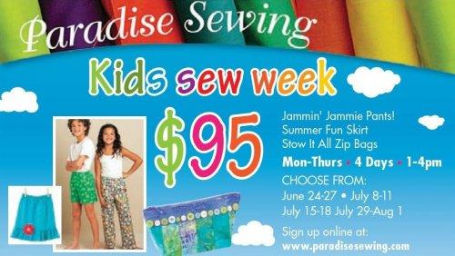 Kids Can Sew Week 2019
