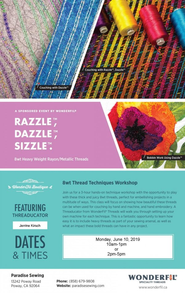 Wonderfil Razzle, Dazzle and Sizzle Event