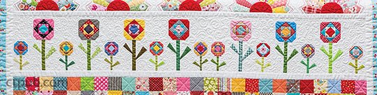Quilting Row by Row Flowers
