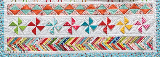 Quilting Row by Row Pinwheels