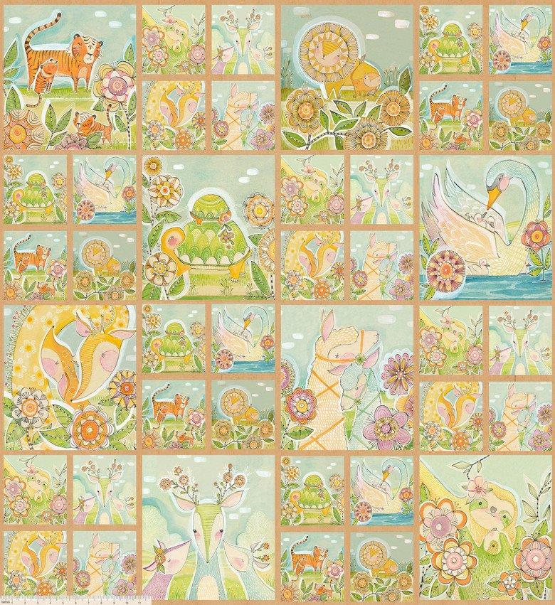 Hello...Big World by Cori Dantin - Mommy & Me Panel Multi - actual size 48 x 44 112.103.10.1