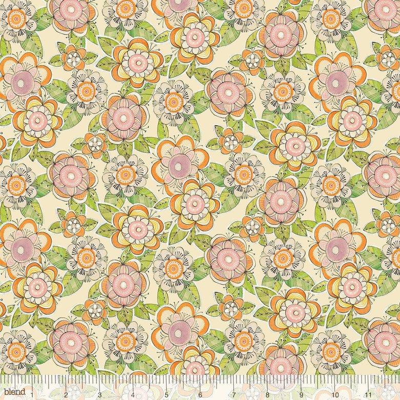 Hello...Big World by Cori Dantini - Flower Days Ivory 112.103.12.1