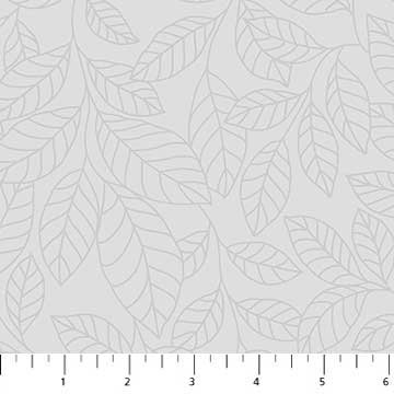 Northcott Simply Neutral Gray Leaves 22139 92