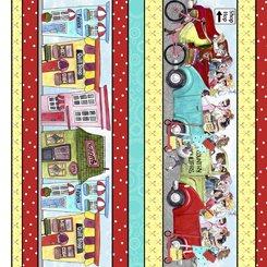 QT Fabrics Shop Hop Stripe 27553  Multi