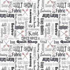 QT Fabrics Shop Hop Lingo 27555J Charcoal