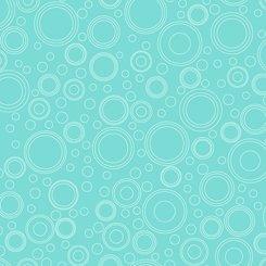 QT Fabrics Shop Hop  Circle Geo 27557 Q Aqua