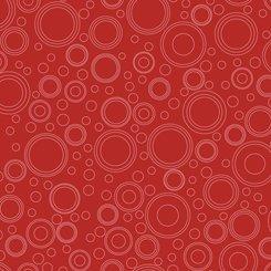 QT Fabrics Shop Hop Circle Geo 27557 R Red
