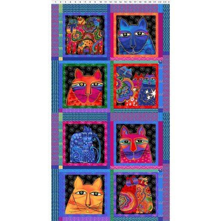 Feline Frolic by Laurel Burch 2796 55 M Panel