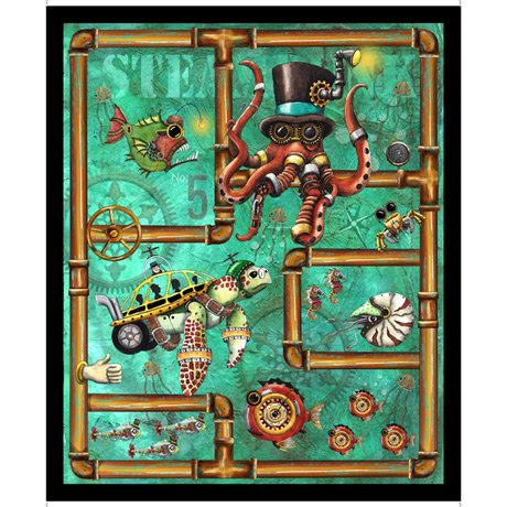 Aquatic Steampunkery AQUATIC STEAMPUNK PANEL 28389-Q