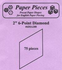 Paper Pieces 2 6 Point Diamond   75 pcs