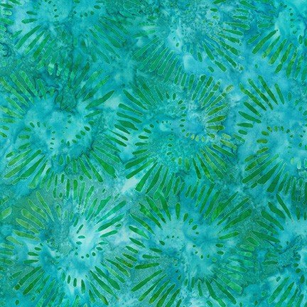 Robert Kaufman Garden Style Aqua AMD-20059-70