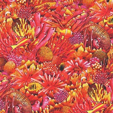 Coral Canyon by Carolyn Steel for Robert Kaufman Fabrics AQDC-19910-285 Ember