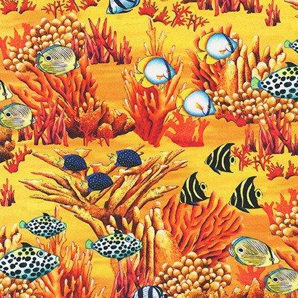 Coral Canyon by Carolyn Steel for Robert Kaufman Fabrics AQDC-19911-311 Turkish Sea