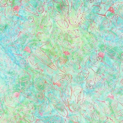 Hummingbird Lane by Lunn Studios for Robert Kaufman Fabrics AMD-20186-70 Aqua