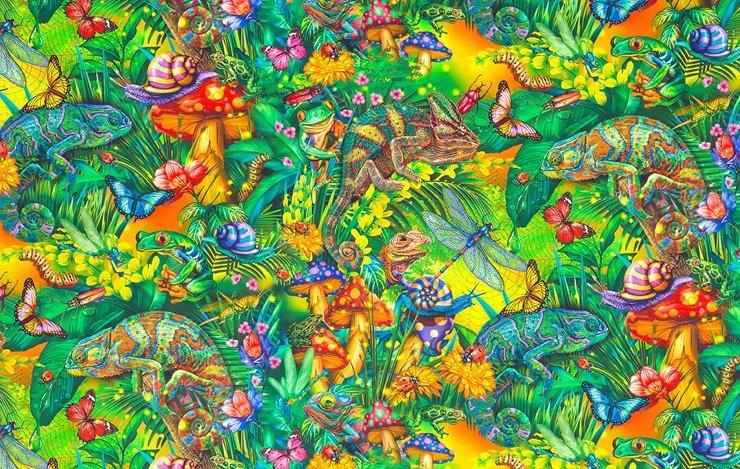 Fantastic Forest by Ciro Marchetti for Robert Kaufman Fabrics ATZD-20174-48 Jungle