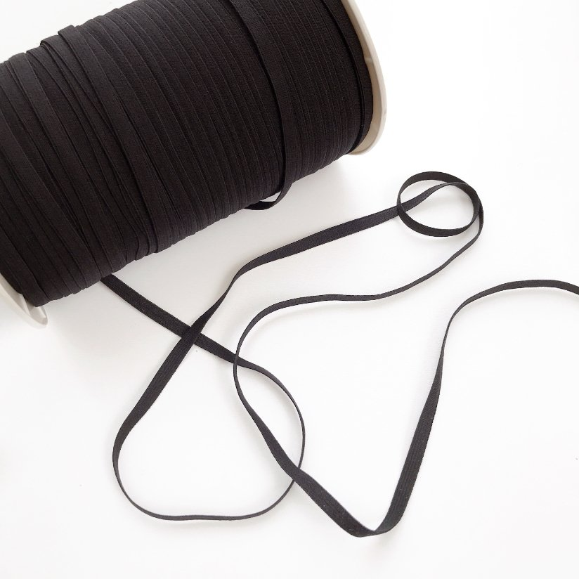 1/4 Soft Elastic Black  E180B 10 yards pkg