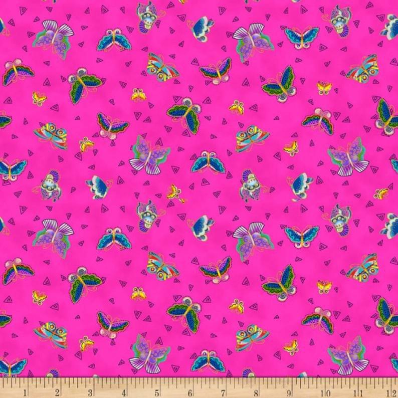 Feline Frolic/Laurel Burch 2800-77M Butterflies