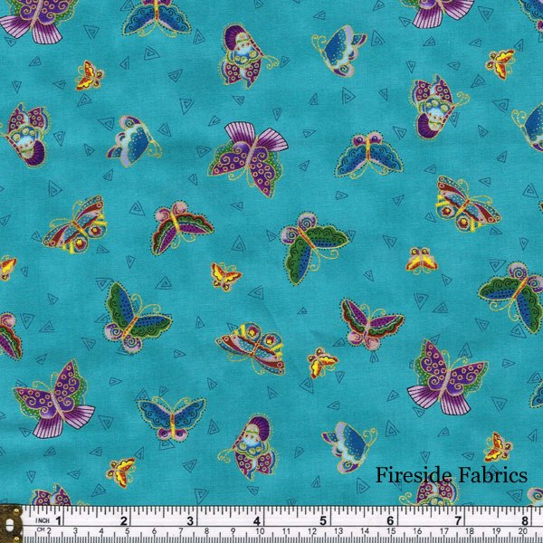 Feline Frolic/Laurel Burch 2800-33M Butterflies