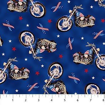 Northcott LIBERTY RIDE 2 BLUE MULTI DP23433-44