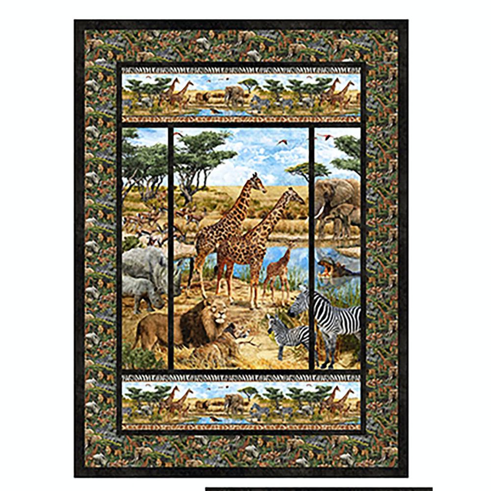 Panelrama Kit featuring Stonehenge Savanna by Northcott