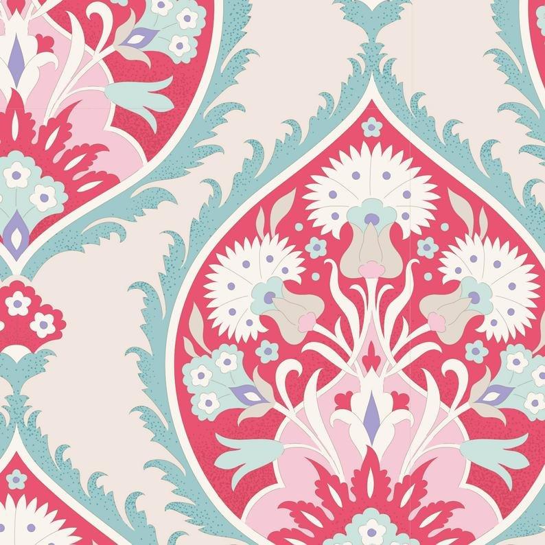 Tilda Bon Voyage Flowerleaf  Red 100253-V11
