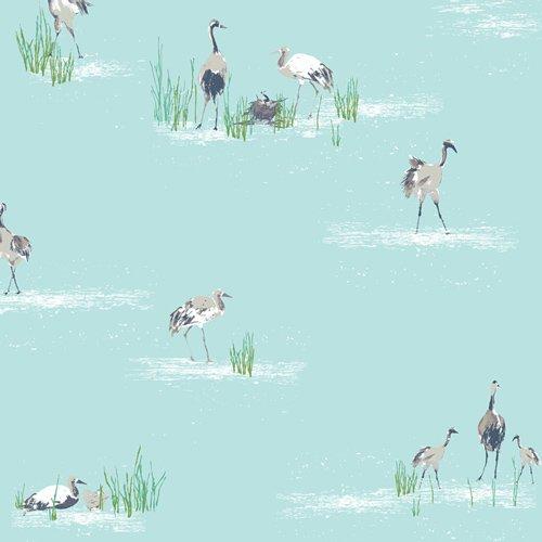 Art Gallery Fabrics Floralish FSH-17405 Wandering Cranes