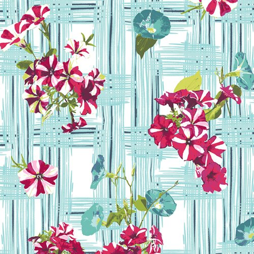 Art Gallery Fabrics Floralish FSH-17408 Petunia Garden Treillage FSH-17408