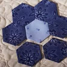 Paper Pieces 1/2 hexagon  125 pcs