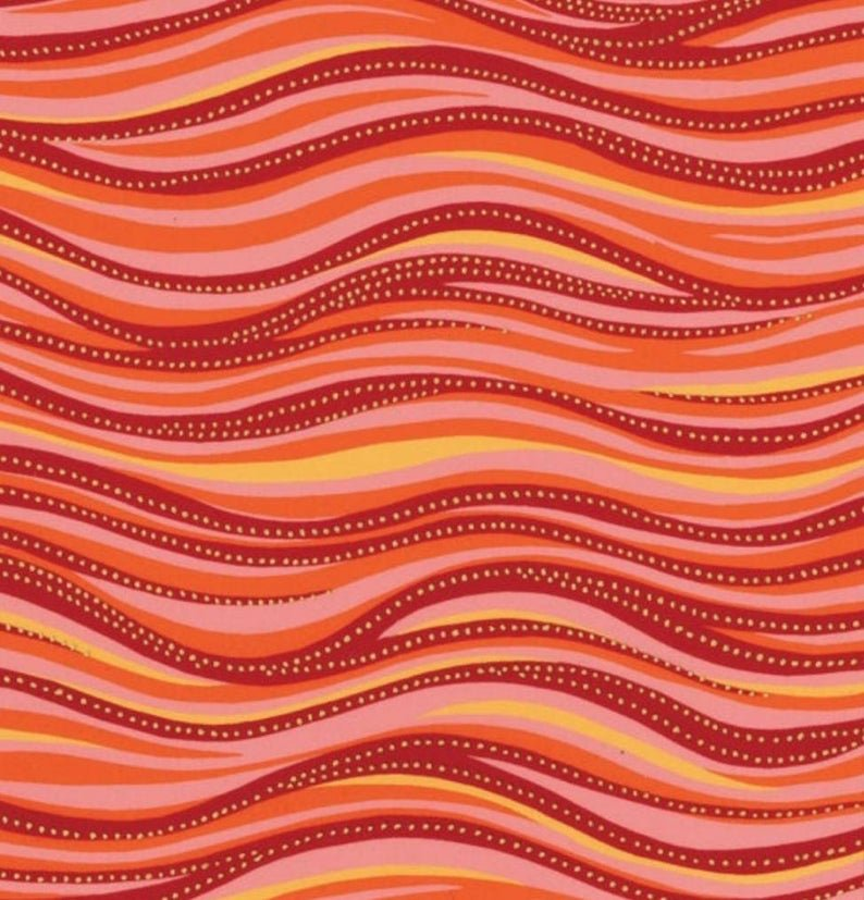 Feline Frolic/Laurel Burch 1331-40M Basic Wave Orange
