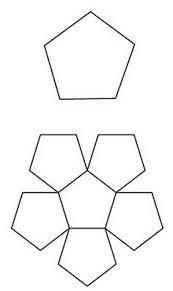 Paper Pieces 1/2 inch Pentagons   100 pieces