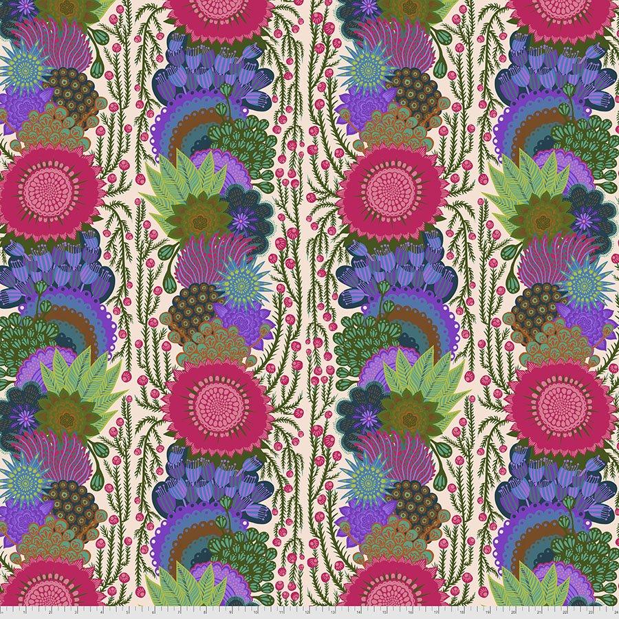 Bright Eyes by Anna Maria for FreeSpririt Fabrics Brimming-Cream PWAH152.Cream