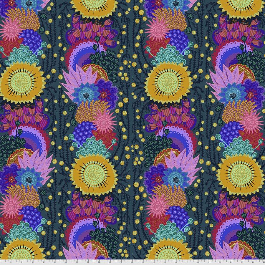 Bright Eyes by Anna Maria for FreeSpririt Fabrics Brimming-Pine PWAH152.Pine