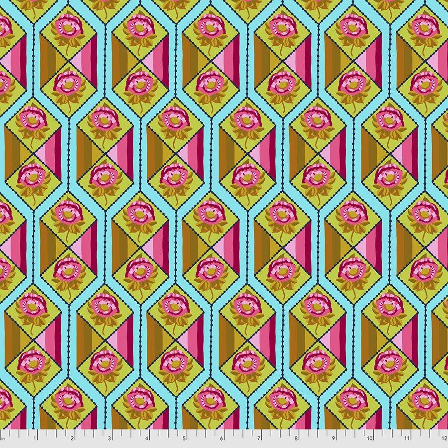 Bright Eyes by Anna Maria for FreeSpririt Fabrics Facets-Aqua PWAH157.Aqua