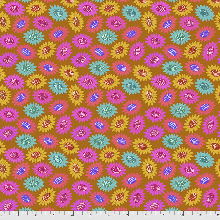 Bright Eyes by Anna Maria for FreeSpririt Fabrics Picky-Gold PWAH159.Gold
