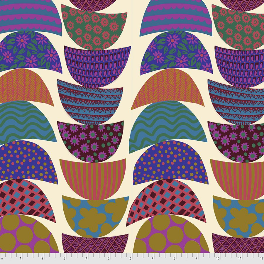 Bright Eyes by Anna Maria for FreeSpririt Fabrics Stacked-Lunch  PWAH160.Lunch