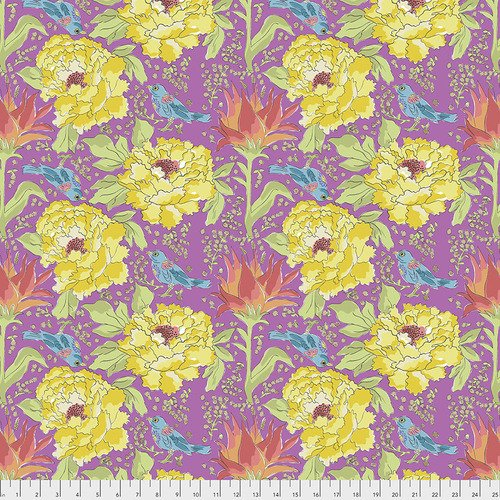 Laura Heine Color Fusion PWLH016 Violet Bird of Paradise