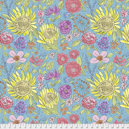 Laura Heine Color Fusion PWLH017 Sunflower Blue