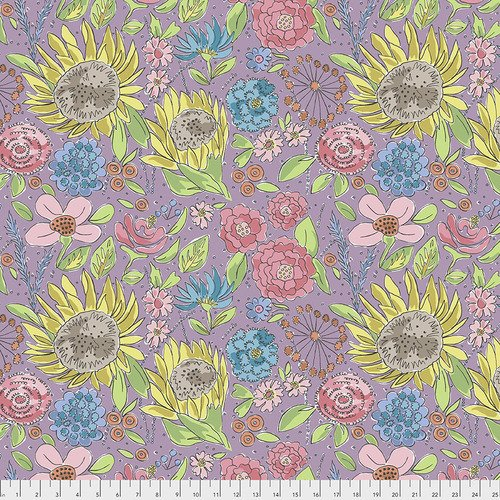 Laura Heine Color Fusion PWLH017 Sunflower Lavender