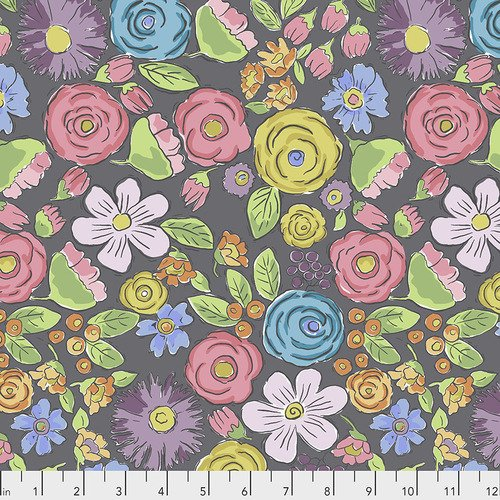 Laura Heine Color Fusion PWLH020 Bouquet Charcoal
