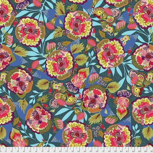 Free Spirit Vibrant Blooms 025 Floral Express Blue