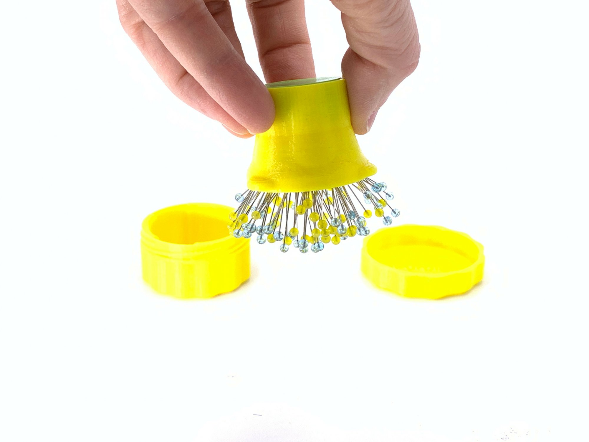 Magnetic Pin Cup - Yellow