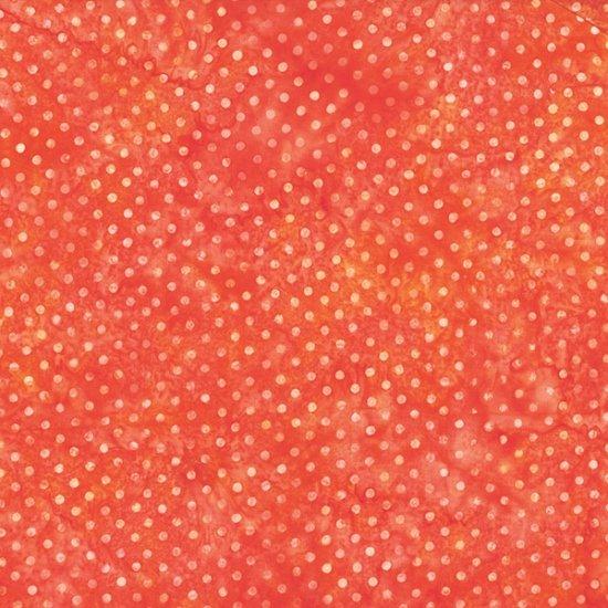 Hoffman Bali Batik Polka Dot Orange S2322-13