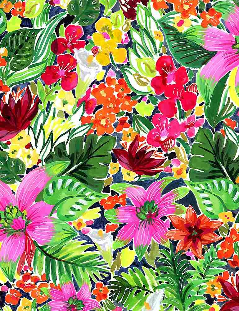 Paradise Found by Dear Stella Fabric Jungle Floral Stella-DJL1774 Multi