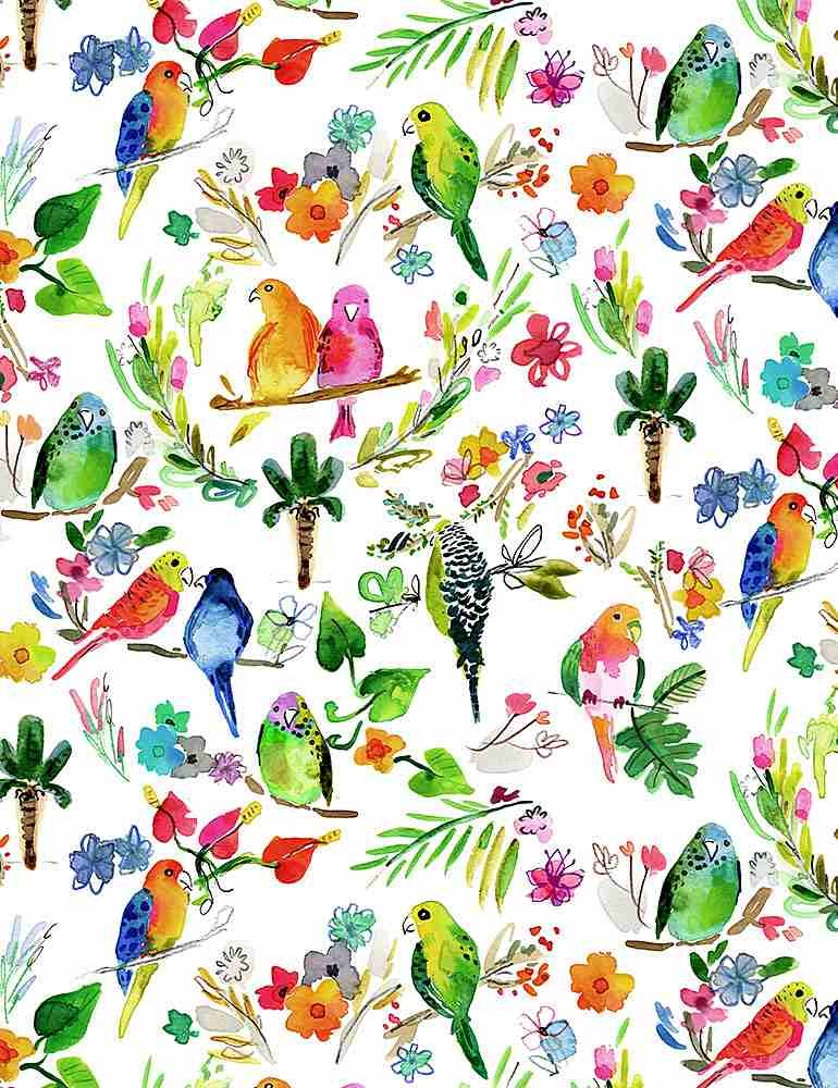 Paradise Found by Dear Stella Fabric Parrots Stella-DJL1775 Multi