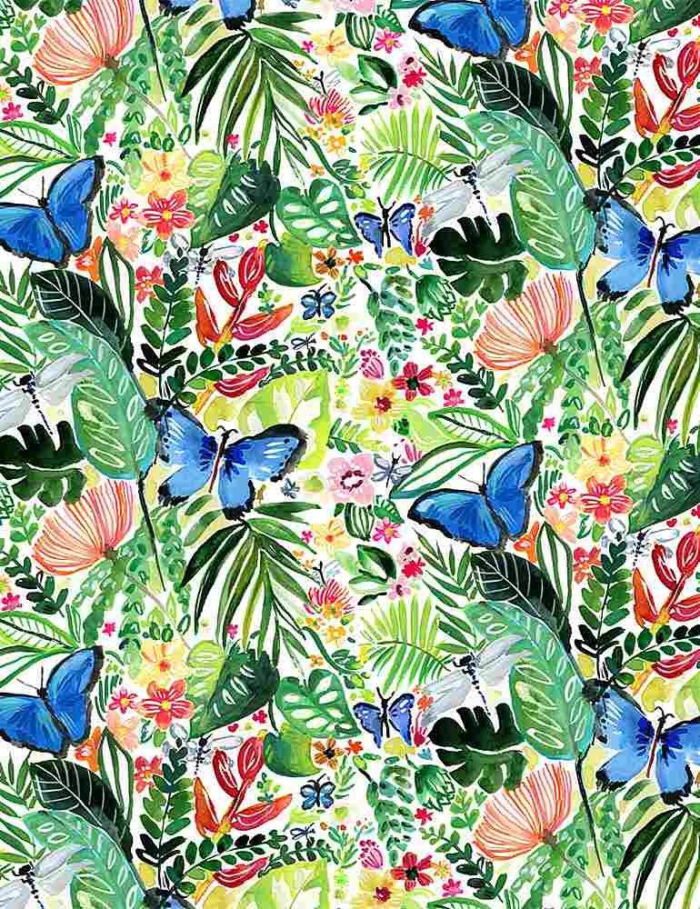 Paradise Found by Dear Stella Fabric Butterflies Stella-DJL1779 Multi