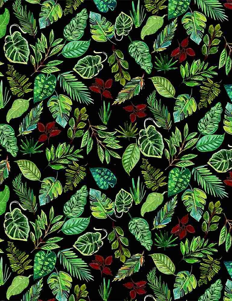 Paradise Found by Dear Stella Fabric Leaves Stella-DJL1780 Multi