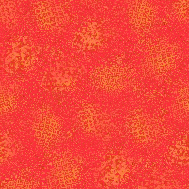 Feline Frolic/Laurel Burch 2801 80 Tomato