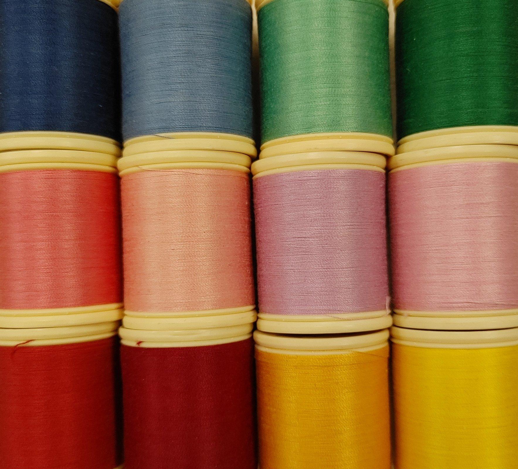 DMC Rainbow 12 spool set of 50wt cotton