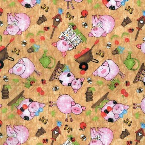 Animal Farm Brown w/ Pigs BTR6716